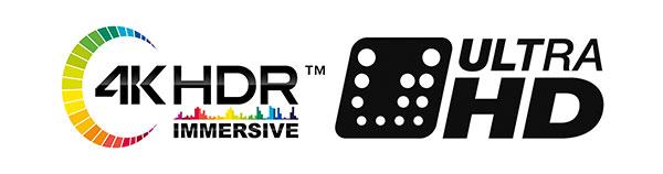 4k HDR und Ultra HD Logo